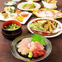 *【夕食/一例】秋限定料理の秋膳です。秋の味覚がいっぱいの料理をご堪能ください。