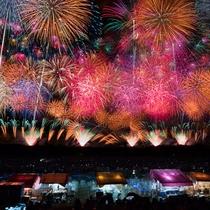 *【酒田花火ショー】毎年8月第一土曜日♪水上スターマインや2kmにも渡る空中ナイアガラは必見!