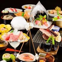 *四季旬彩 極冬膳/厳選した旬の食材と料理長が腕を振るった料理の数々。