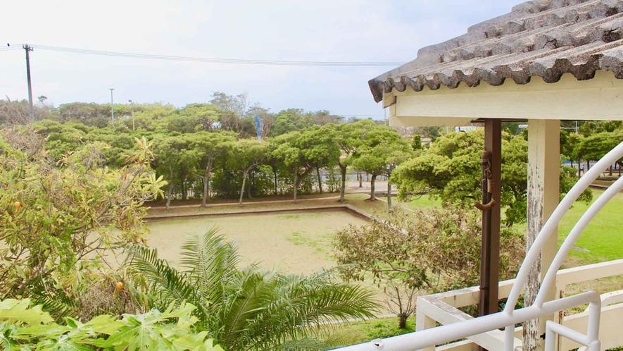 ・白浜ホテル2Fから見た風景