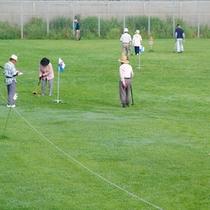 【ゴルフ】グランドゴルフの様子。