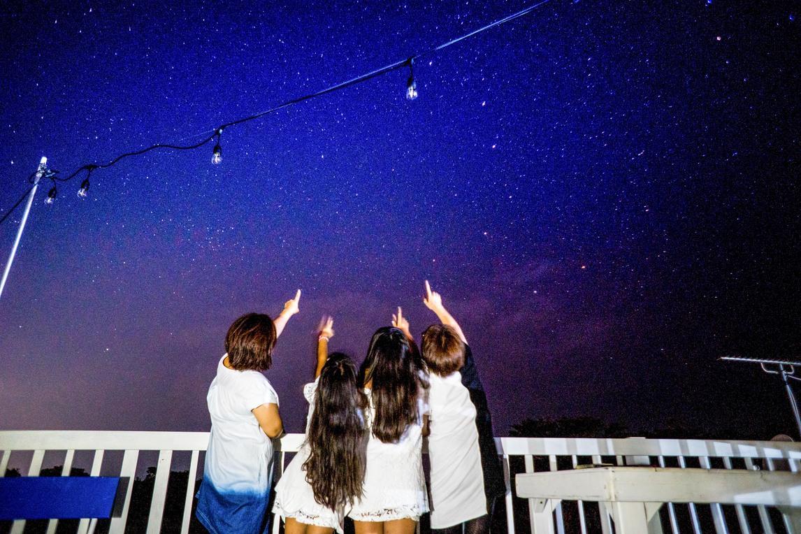 屋上からの星空