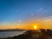 古宇利島からの夕陽