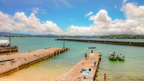 古宇利島の海(漁港)