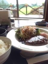 夕食(チキンorポークステーキ&サラダ)