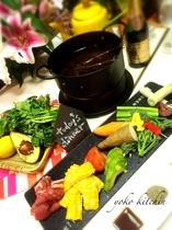 夕食(野菜とお肉のグリル)