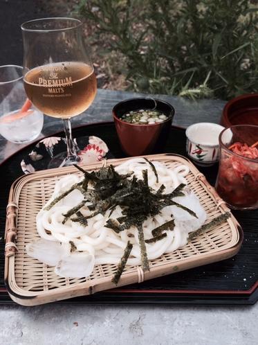 おつまみ(おまかせ野菜のいろいろ&麺類等)