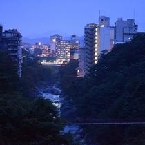 当館より鬼怒川の夜景