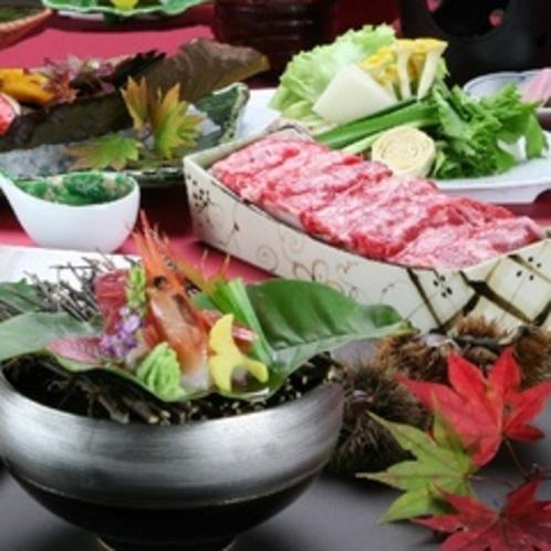 季節の会席料理一例