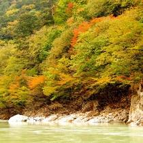 龍王峡の紅葉(車で5分)