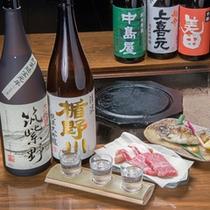 *九州各地はもとより全国から厳選した日本酒を取り揃えています