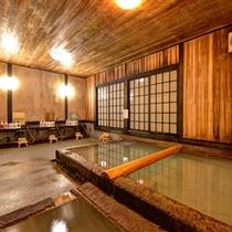 *【大浴場(切石湯)】檜湯と日替わりで男女入れ替え制でご入浴していただけます