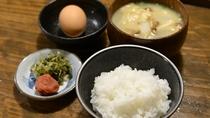 *【ご朝食一例】お米は館主栽培のこしひかり。