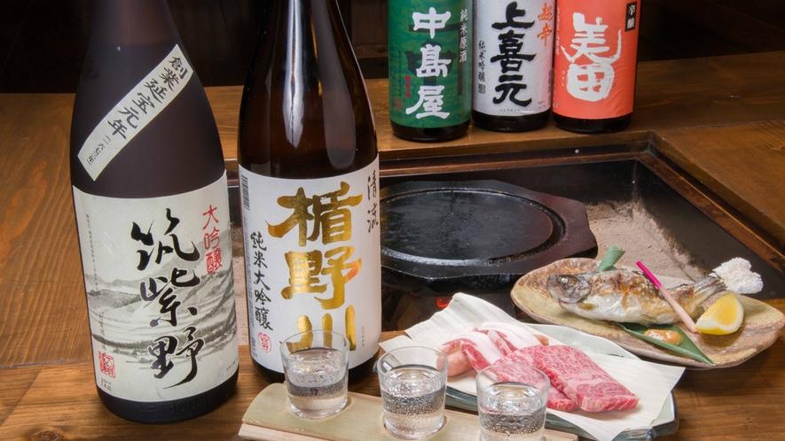 *【お酒】九州各地はもとより全国から厳選した日本酒を取り揃えています