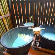 *【五右衛門風呂】夏季限定!館主手作りの五右衛門風呂です。