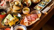 *【夕食一例】囲炉裏会席 ~弐の膳 平治岳~旬の素材がもつ美味しさをそのままお愉しみ頂けます。