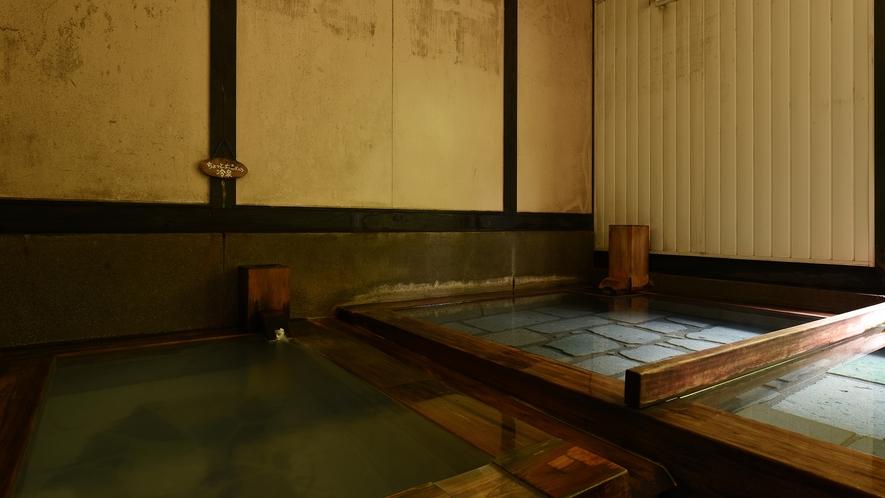 *【桧湯】ぬるめの冷泉と交互に入浴することで、体の芯から温まります。