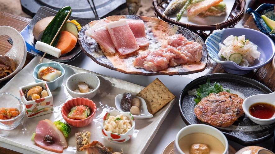 *【弐の膳】味・量ともにご満足いただいている夕食。