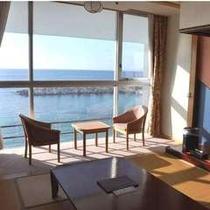 【客室はオーシャンビュー】間近に迫る海は圧巻です!