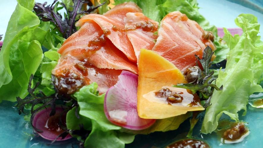 【About The Food/Dinner】地元の常陸野菜(ひたちやさい)や鮮魚などの食材を大切に