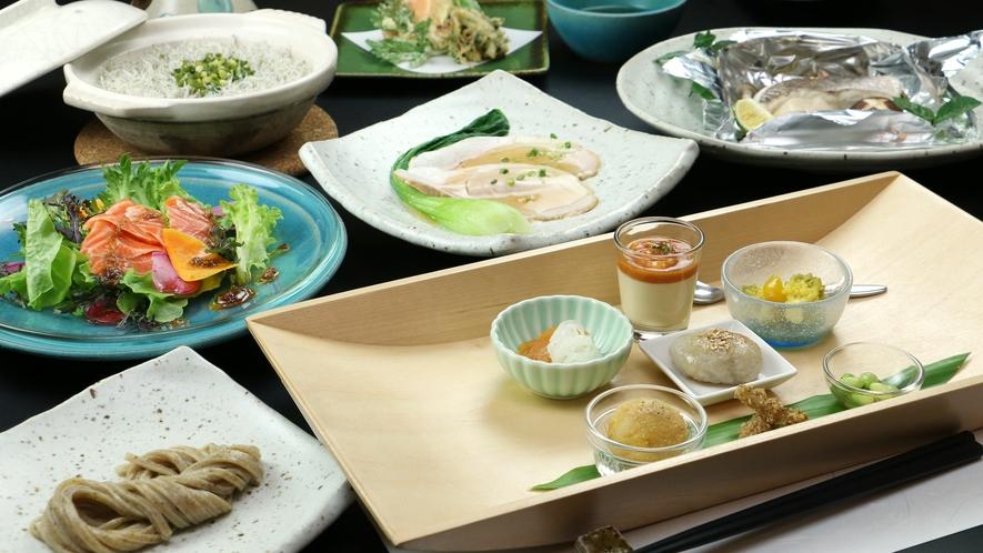 【About The Food/Dinner】地元食材を大切にした身体にやさしいお食事