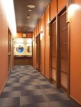 貸切風呂の廊下
