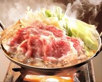上州牛を使ったすき焼きです