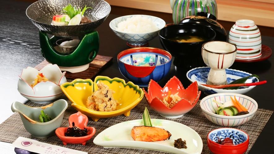 ●朝食●湯豆腐や温泉たまごなど、身体に優しい朝食で一日をスタート♪