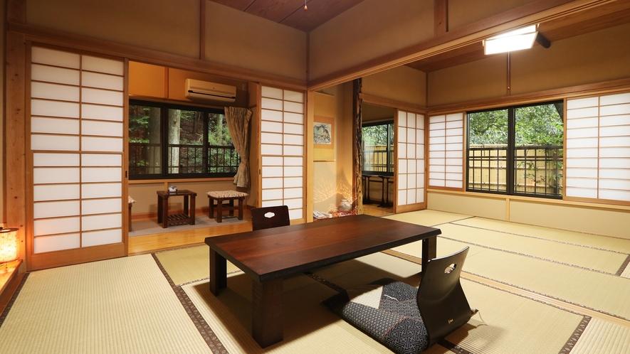 ◆梅-ume-◆15畳*広々としたお部屋です。窓から覗く自然があなたを癒します。