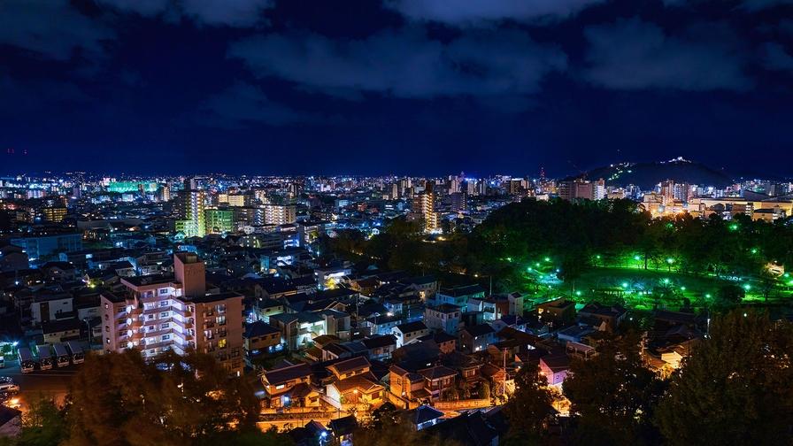【松山の市街地を一望】夜景が見えるお部屋確約プラン