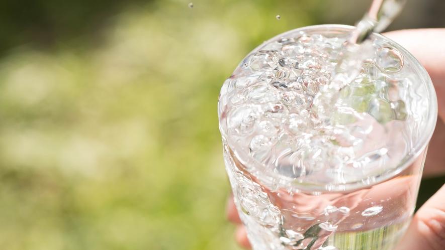 *尾瀬の郷片品湧水群で「平成の名水100選」に選ばれたお水をお部屋にご用意