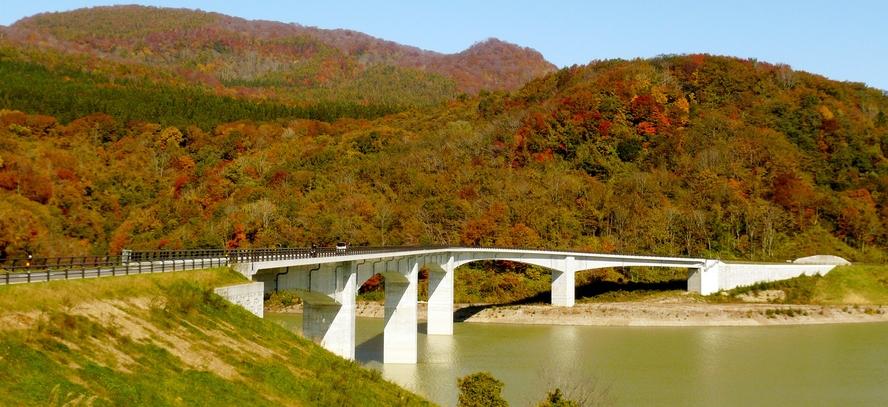 【周辺観光】《胆沢ダム(秋)》当館からお車で約8分