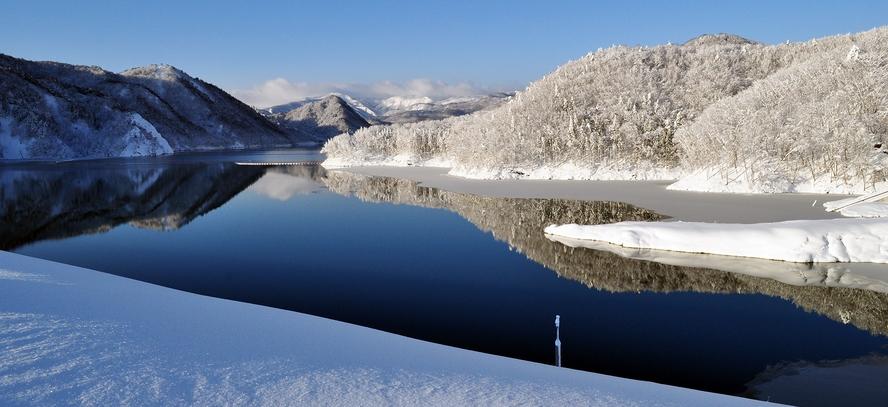 【周辺観光】《胆沢ダム(冬)》当館からお車で約8分