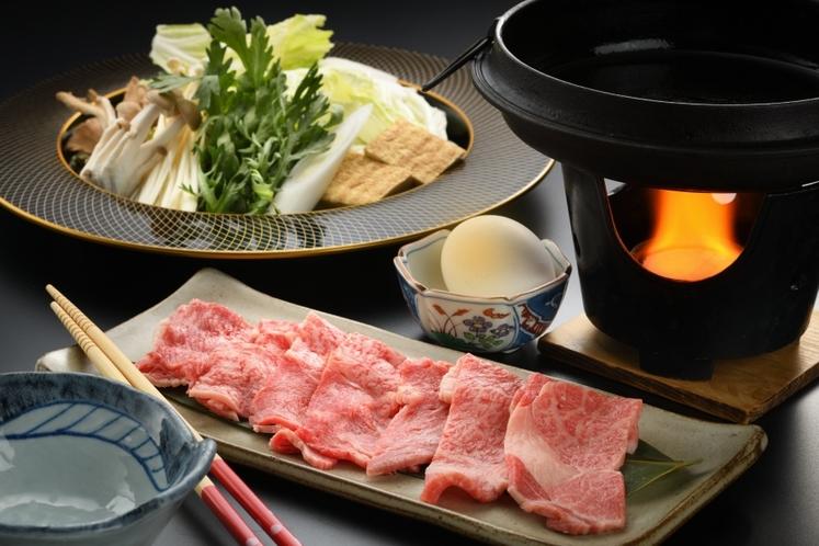 【お食事】《ご夕食》当館人気NO1・選べるいわて奥州牛プラン(すき焼き)