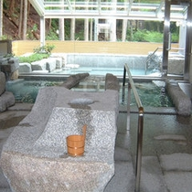 *【大浴場】高槻樫田温泉:地下200mと比較的浅い源泉です