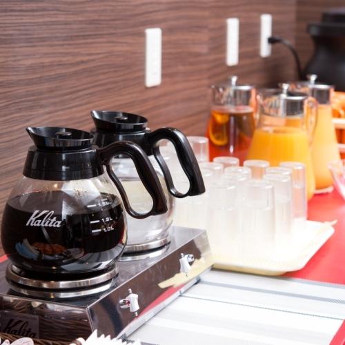 【朝食無料】温かいコーヒーで朝からほっと一息