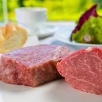 豊後牛ロース&豊後牛ヒレ大分が誇るブランド牛を自然を感じ食事が楽しめます