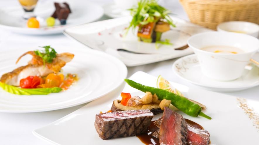 【ディナーコース】色彩豊かな季節の料理