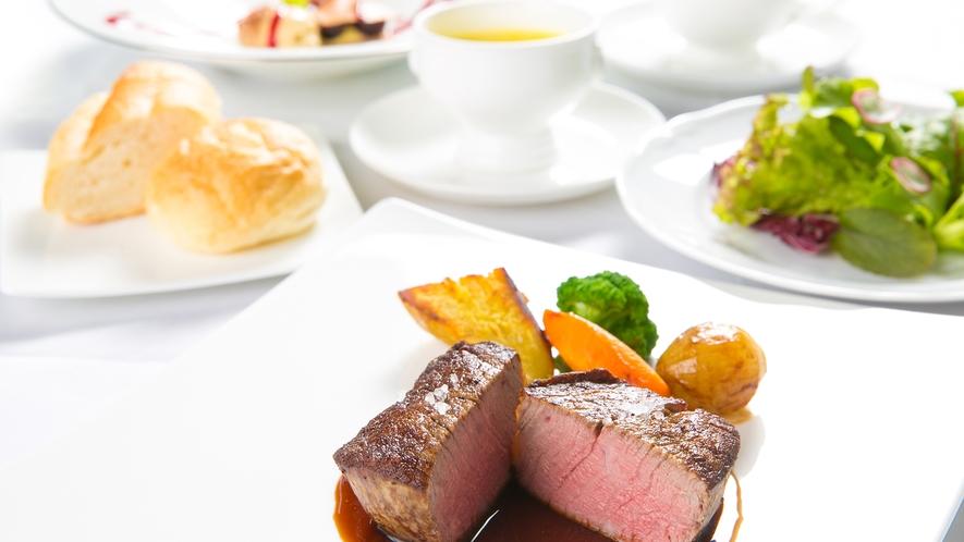 【ヒレステーキコース】高級素材豊後牛ヒレ肉を使用