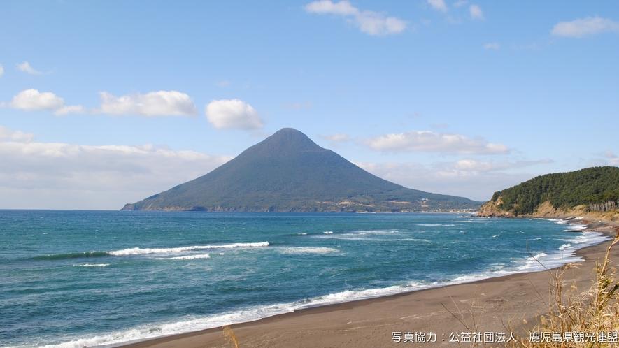 【開聞岳】長崎鼻から臨む開聞岳は絶景です!