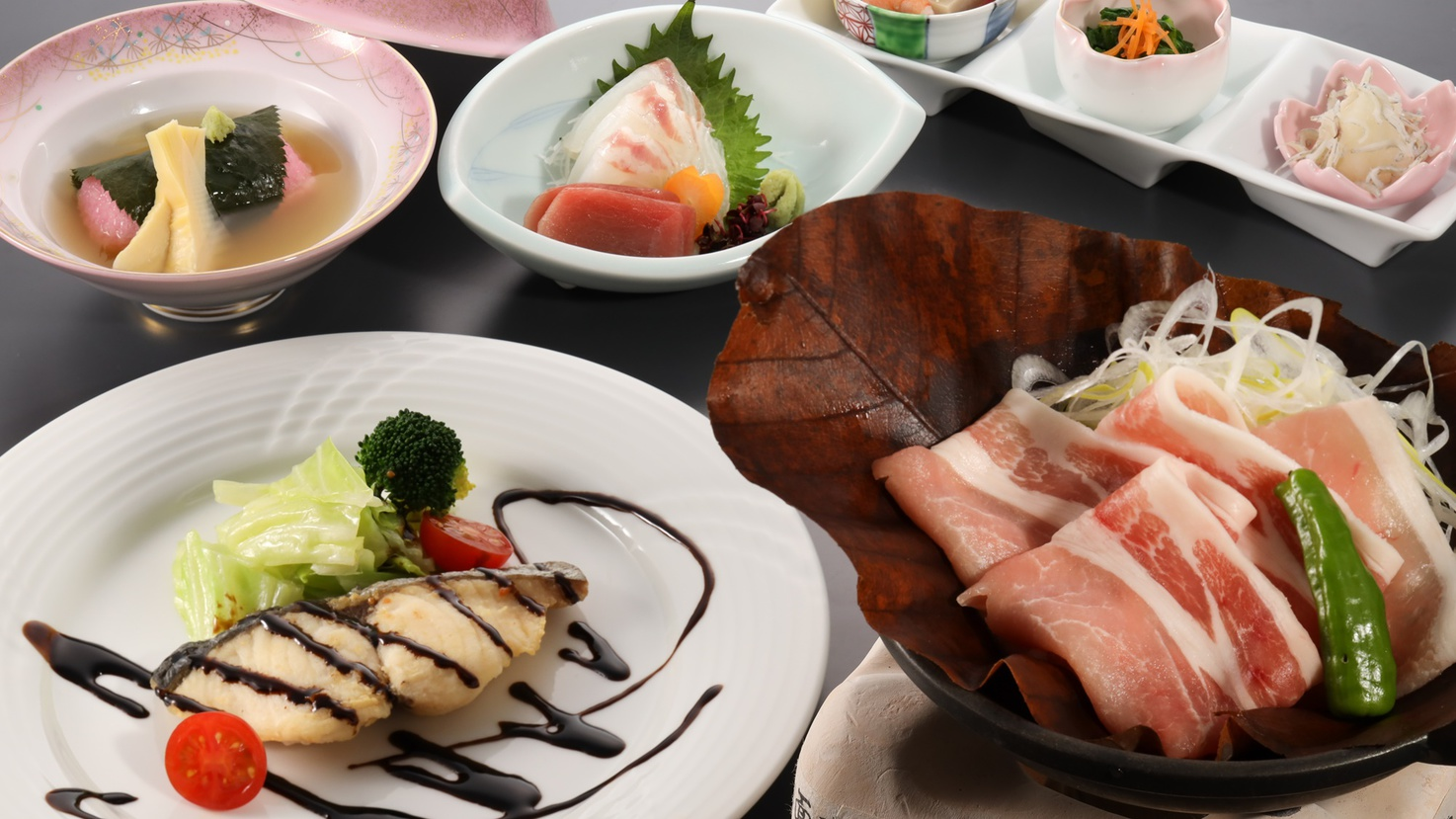 *2021年春【飛騨高山御膳】ご当地ポーク・納豆喰豚(なっとくとん)などをご賞味ください