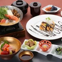*【お手軽◇飛騨古川御膳】新鮮海の幸をお造りやお鍋で♪料理長おすすめの食し方3種をご用意いたします