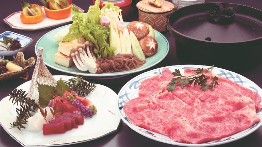 *【飛騨牛すき焼き】絶品の飛騨牛を贅沢にすき焼きでご賞味ください