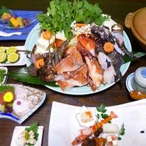 魚ちり鍋(画像は4人盛り)
