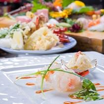 *お夕食一例(厳選コース)/黒潮が育む高級食材を活かした和会席料理。白浜の贅をご堪能下さい。