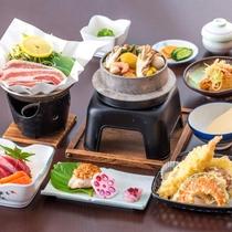 *料理(竹)/出汁が効いたあったかい「季節の釜飯」が付いたグレードアップコース。おかずも豊富!