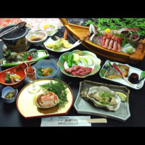 b 舟盛会席 夏のお料理一例