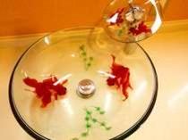 金魚鉢の洗面所