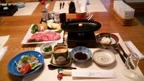 夕食(飛騨牛ステーキ)