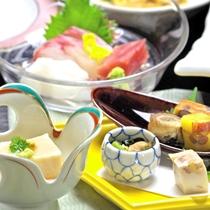 *【グレードUP料理】一例。瀬戸内の旨い魚介類・地元野菜や山の幸と割烹旅館ならではの拘り料理です。